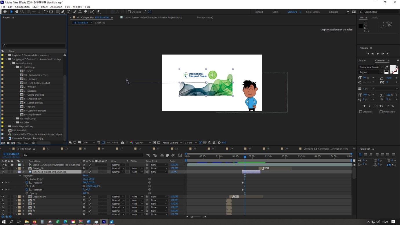 Proses pembuatan animasi Pitch the Future
